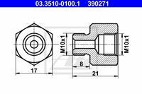 Adapter, Bremsleitung ATE 03.3510-0100.1