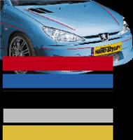 AutoStyle sticker AutoStripe Cool200 6,5 mm 975 cm zilver