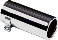 Uitlaatsierstuk RVS - rond 76mm - lengte 170mm - 50-60mm aansluiting