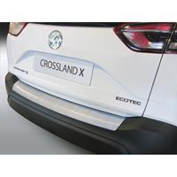 ABS Achterbumper beschermlijst Opel Crossland X 2017- ZwartRibbed'