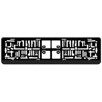 AutoStyle kentekenplaathouder 52 x 11 cm carbonlook