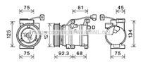 mazda Compressor, airconditioning