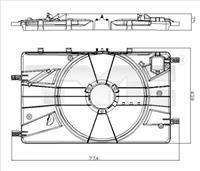 opel Houder, radiateurventilator
