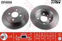 TRW Bremsscheiben DF4050 Scheibenbremsen,Bremsscheibe OPEL,CHEVROLET,VAUXHALL,ASTRA H Caravan L35,MERIVA,ASTRA G CC F48_, F08_,ASTRA H L48