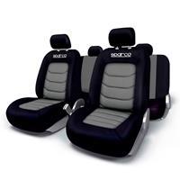 Stoelhoezenset Sparco Zwart / Grijs (11-delig) (ook geschikt voor Side-Airbags)