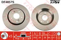 TRW Bremsscheiben DF4857S Scheibenbremsen,Bremsscheibe HONDA,CR-V III RE,CR-V IV RE,CROSSTOUR