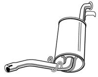 WALKER Endschalldämpfer 70535 ESD,Endtopf SEAT,MARBELLA 28