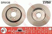 TRW Bremsscheiben DF6135 Scheibenbremsen,Bremsscheibe SUZUKI,SWIFT IV FZ, NZ