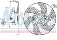 Koelventilatorwiel NISSENS, 2-polig, 300 mm
