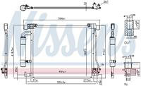 NISSENS Klimakondensator 940555 Kondensator,Klimakühler NISSAN,JUKE F15,PULSAR Schrägheck C13