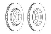 FERODO Bremsscheiben DDF1031 Scheibenbremsen,Bremsscheibe VOLVO,V70 I LV,XC70 CROSS COUNTRY,C70 I Cabriolet,C70 I Coupe,S70 LS