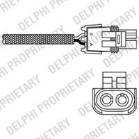 DELPHI Lambdasonde ES10989-12B1 Lambda Sensor,Regelsonde RENAULT,TWINGO I C06_,CLIO I B/C57_, 5/357_,RAPID Kasten F40_, G40_