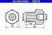 Adapter, Bremsleitung ATE 03.3510-4100.1