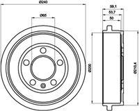 TEXTAR Bremstrommel 94023800  VW,AUDI,SKODA,POLO 9N_,POLO 6R, 6C,FOX 5Z1, 5Z3,POLO CLASSIC 6KV2,POLO Stufenheck 9A4,POLO VIVO Schrägheck,LUPO 5Z1