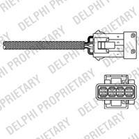 DELPHI Lambdasonde ES20245-12B1 Lambda Sensor,Regelsonde PEUGEOT,CITROËN,206 Schrägheck 2A/C,206 SW 2E/K,106 II 1,406 Break 8E/F,PARTNER Combispace 5F