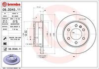 BREMBO Bremsscheiben COATED DISC LINE 08.D045.11 Scheibenbremsen,Bremsscheibe MERCEDES-BENZ