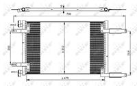 fiat Condensor, airconditioning