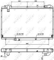 NRF Wasserkühler 54750 Kühler,Motorkühler RENAULT,ESPACE III JE0_