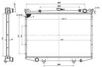 NRF Wasserkühler 503492 Kühler,Motorkühler FORD,NISSAN,MAVERICK UDS, UNS,PICK UP D21,TERRANO I WD21