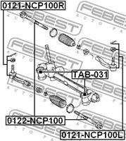 Toyota Spoorstangeind
