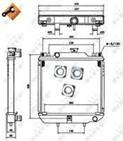 NRF Wasserkühler 52110 Kühler,Motorkühler AIXAM,500