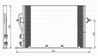 NRF Klimakondensator EASY FIT 35196 Kondensator,Klimakühler FORD,MONDEO II Kombi BNP,COUGAR EC_,MONDEO II BAP,MONDEO II Stufenheck BFP