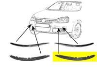 Volkswagen BUMPERLIJST LINKS BUMPER Lijst Onder Primer
