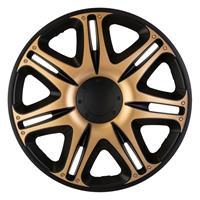 4-Delige J-Tec Wieldoppenset Nascar 13-inch zwart/goud