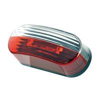 Breedtelicht rood/wit 12V ovaal