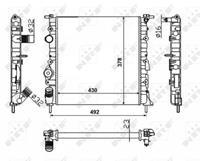 NRF Wasserkühler 58023 Kühler,Motorkühler RENAULT,NISSAN,DACIA,CLIO II BB0/1/2_, CB0/1/2_,KANGOO KC0/1_,SCÉNIC I JA0/1_,MEGANE Scenic JA0/1_