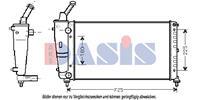 Kühler, Motorkühlung   AKS DASIS (300014N)