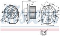 Interieurventilatie NISSENS, 2-polig, 149 mm