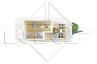 Weerstand, interieurventilator NRF, 5-polig, 12 V