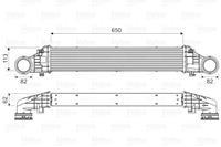 Intercooler, inlaatluchtkoeler Valeo