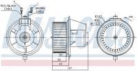 Interieurventilatie NISSENS, 119 mm
