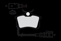 Valeo Bremsbeläge 301180 Bremsklötze,Scheibenbremsbelag VW,AUDI,RENAULT,PASSAT Variant 3B6,GOLF III 1H1,GOLF II 19E, 1G1,PASSAT Variant 3B5