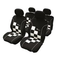 carpoint Stoelhoesset 8-delig 'Racing' wit airbag 10221