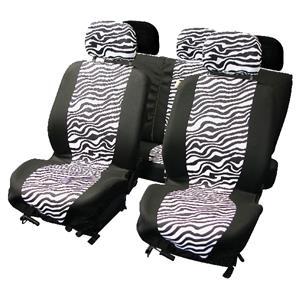 carpoint Stoelhoesset 9-delig 'zebra' airbag 10120