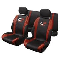 carpoint Stoelhoesset 9-delig 'CP Sports' rood airbag 10242