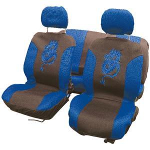 carpoint Stoelhoesset 8-delig 'Draak' blauw 10069