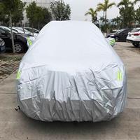 PVC anti-stof zonbestendige SUV autohoes met waarschuwingsstrips, geschikt voor auto's met een lengte tot 5,1 m (199 inch)
