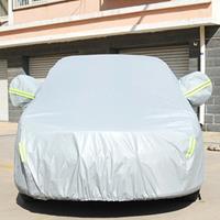 PVC anti-stof zonbestendige sedan autohoes met waarschuwingsstrips, geschikt voor auto's met een lengte tot 4,9 m (191 inch)