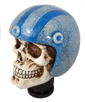 Simoni Racing Pookknop Skull + Blauwe Helm SRPK56B