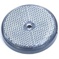 Huismerk Reflector rond 60mm wit
