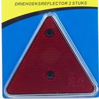 Huismerk Reflector driehoek 152mm, 2 stuks in blister