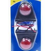 Huismerk Markeringslamp mini 2 stuks rood/wit