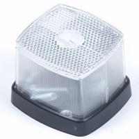 Huismerk Positielamp wit 63 x 66 met reflector