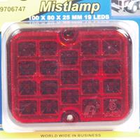 Huismerk Mistlamp 100 x 80 x 25 / 9 LEDS