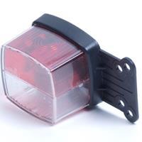 Huismerk Positielamp rood/wit flap