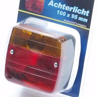 Huismerk Achterlicht 100 x 95mm blister  incl. lampjes
